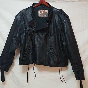Vintage Impuls Point Black Leather Jacket